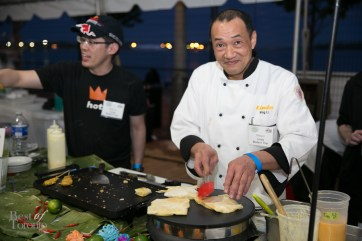 Chef Wing Li, Linda Modern Thai serving up some amazing banana crepes