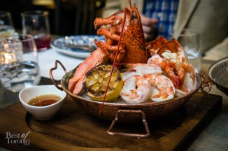 Chilled seafood platter - shrimp, smoked trout, lobster, brown butter
