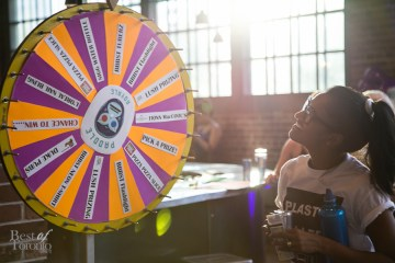 Spin the wheel for prizes