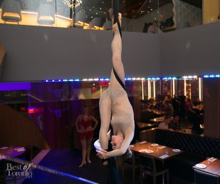 Aerial performance at Copacabana by Jamie Holmes / La Rouge Entertainment