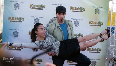 Drew Scott (Property Brothers) having fun on the red carpet