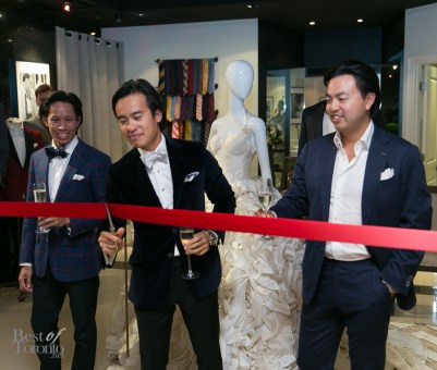 The ribbon-cutting ceremony to celebrate the opening of Garrison Weddings | Photo: Nick Lee