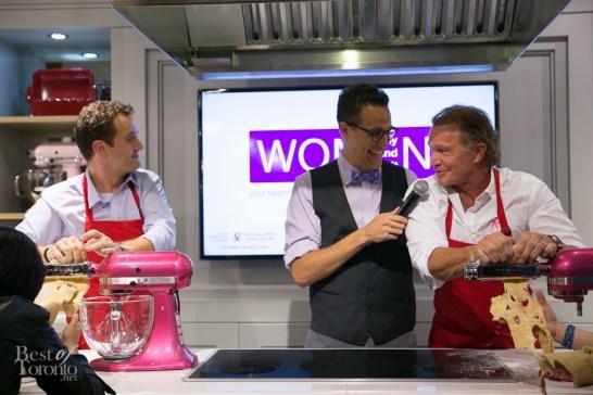 Chefs Corbin Tomaszeski and Mark McEwan engaging in some playful trash talking | Photo: Nick Lee