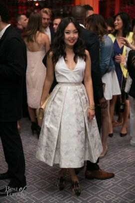 Amarsana Gendunova wearing Pink Tartan