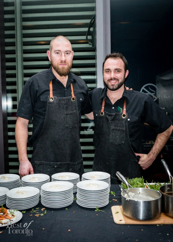 The chefs from Wolf in the Fog, headed by Chef Nick Nutting (left)