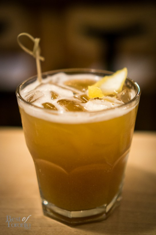 Smoked Peach Bourbon Sweet Tea with Knob Creek Bourbon | Photo: John Tan