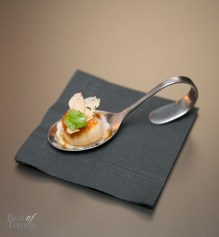 """""""Scallops"""" Oxtail Gow Gee, Soy Buerre Blanc, Crisp Rice, White Truffle"""