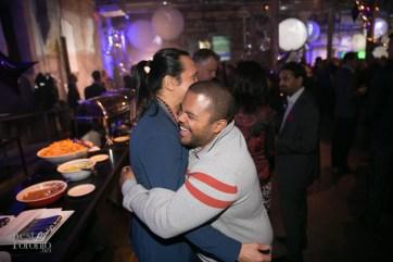Roger Mooking giving big hugs to Susur Lee