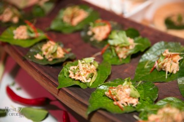 Smoked Trout Betel Leaf with satay peanut sauce, fried shallot Dailo Restaurant
