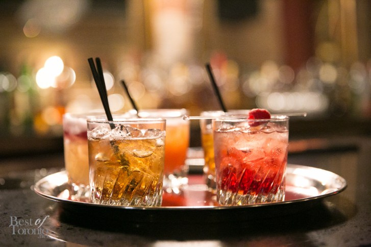 A sampling of the whisky cocktails