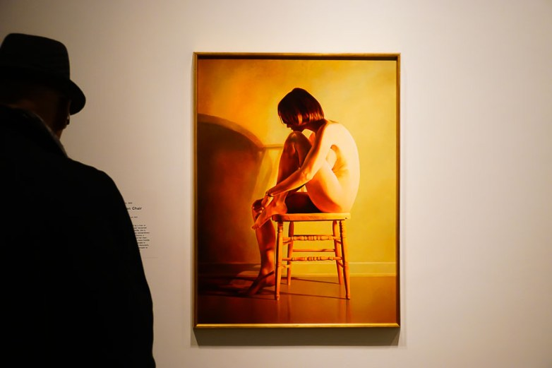 Mary Pratt Inspired by Alex Colville: Nude on a Kitchen Chair (1979)