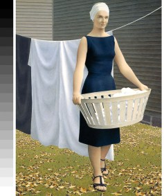 Alex Colville: Woman at Clothesline (1956-57)
