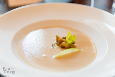 Chestnut Velouté with green apple, celery, apple cider vinegar