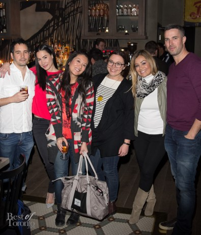 Members of CTV's The Social team dining at Città including Cynthia Loyst, Lainey Lui, Jessica Rae Allen, Melissa Grelo