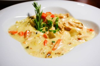 Waterzooi (traditional Belgium chicken stew)