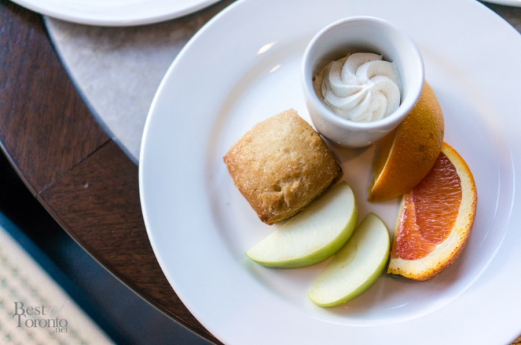 Fruits and scone