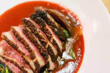 Seared spiced duck breast