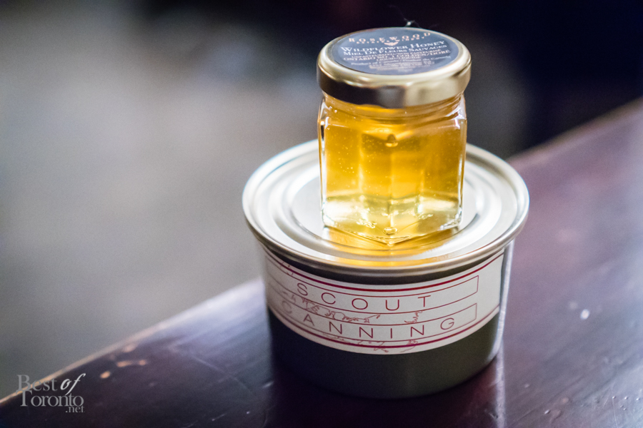 Wildflower honey from Rosewood Estates Winery, and Soup de Poisson from Scout Canning