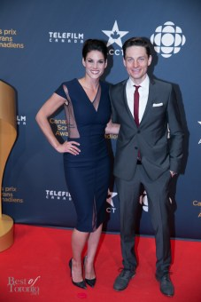 Rookie Blue's Missy Peregrym (presenter) and Gregory Smith