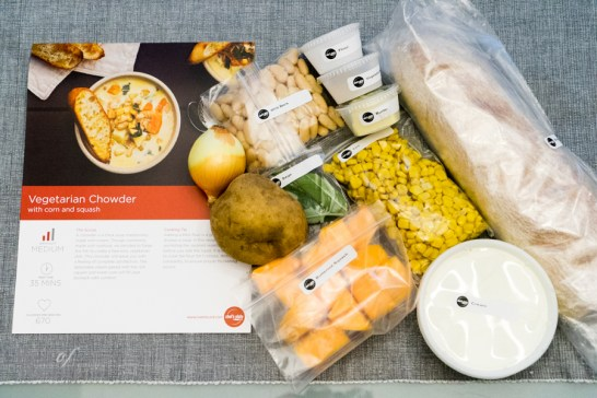 Ingredients for the vegetarian chowder