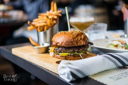 Cheeseburger | oak smoked bacon, chili gouda, pickles, mustard-mayo, fries