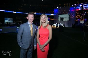 The evening hosts, Sportsnet's Jamie Campbell and Evanka Osmak