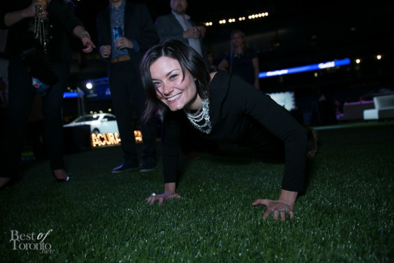 Sometimes guests do push ups to finish off a great night