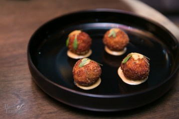 Porcini arancini with truffle aioli and parmigiano | Photo: Nick Lee