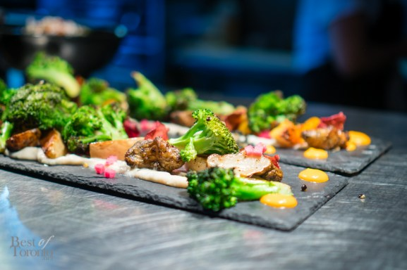 Veg slate - squash, broccoli, sunchokes, cauliflower baba ganoush, beet chips   Rasa