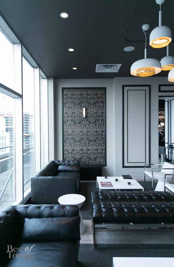 Inside the private dining area of The One Eighty