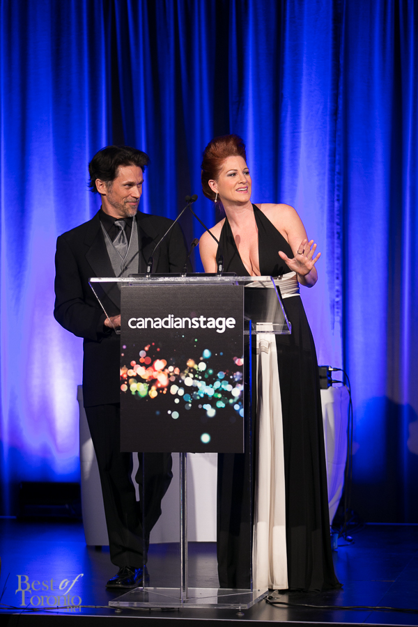 Emcees Rick Miller, Carly Street from the Canadian Stage show, Venus in Fur