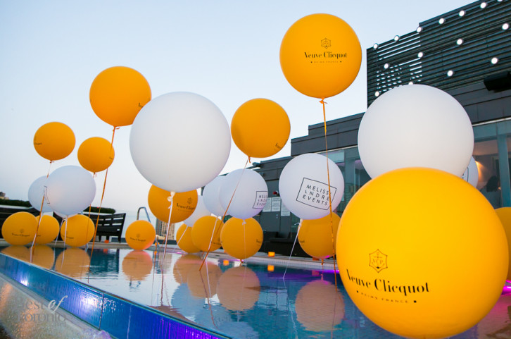 Pin by just one on sp2ideas balloons veuve clicquot pool