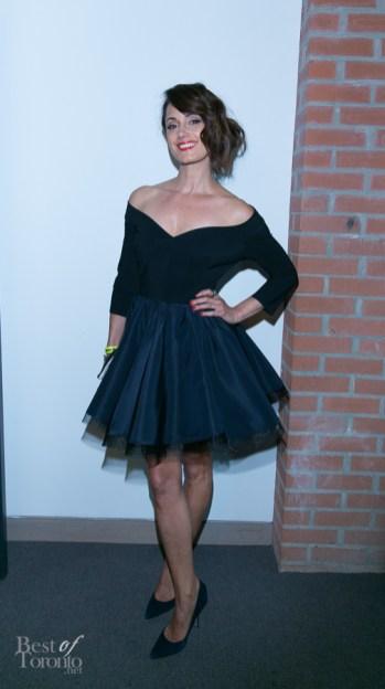Natalie Brown wearing Greta Constantine