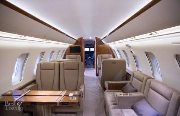 Inside the private jet | Photo: J