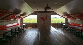 The event space upstairs at Oast House Brewers