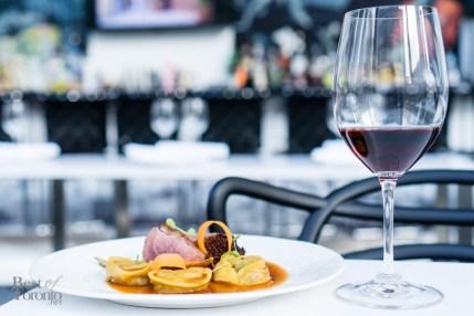 Duck tortellini | Chanterelle mushrooms, tea smoked duck breast, charred tomato sauce