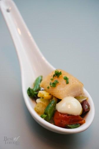 Smoked trout Niçoise salad, roasted garlic aioli | Photo: Tiffany Leigh