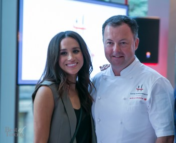 Celebrity Meaghan Markle (Suits) with David Hawksworth   Photo: Nick Lee