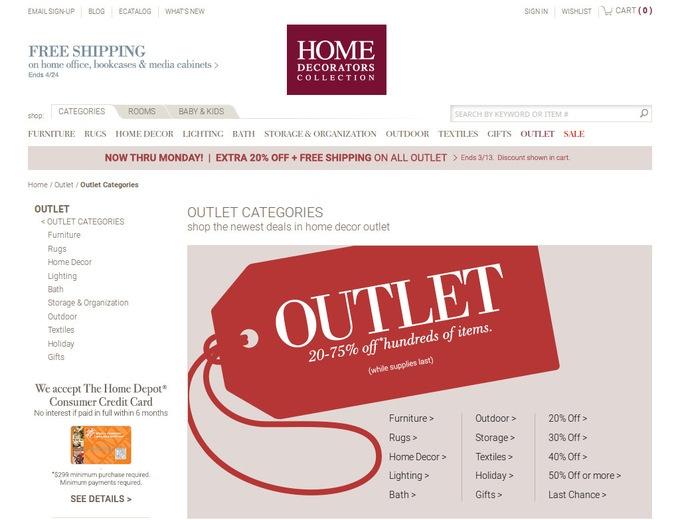 Home Decorators Outlet Coupons  HomeDecoratorsOutletcom Promo Codes