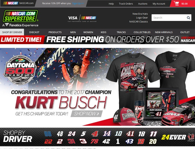 Nascar Coupons  Nascar Collectibles Promotional Codes
