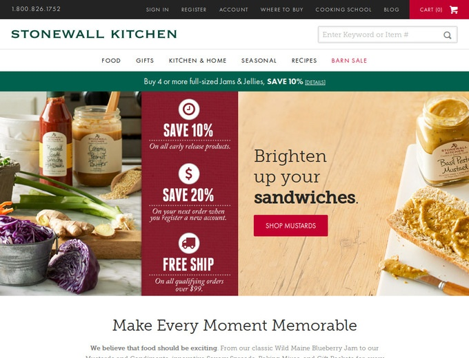 stonewall kitchen coupons homemade cabinets free shipping | dandk organizer