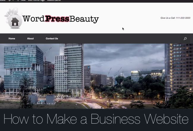 How-Make-Business-Website-WordPress