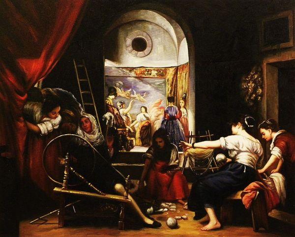 Museo Del Prado In Madrid Las Hilanderas Diego
