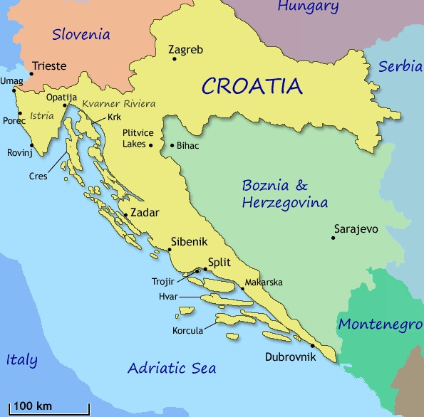France wins vs croatia by 4 2 for the world cup prize in russia on image result for image of map of croatia gumiabroncs Gallery