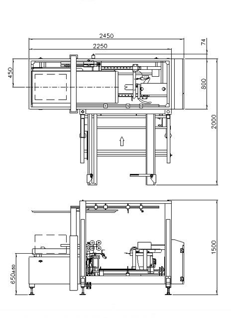 封箱机 Carton Sealer – ELVS22参数图