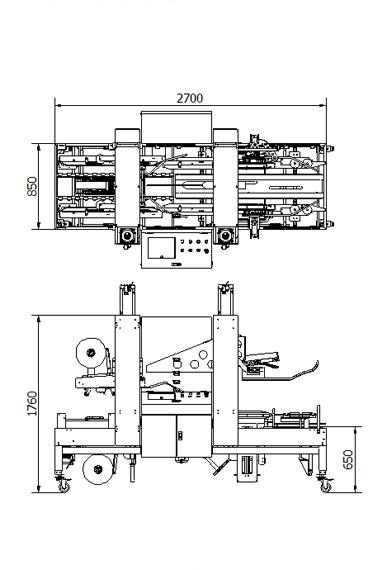 封箱机 Carton Sealer – CTFXU参数图