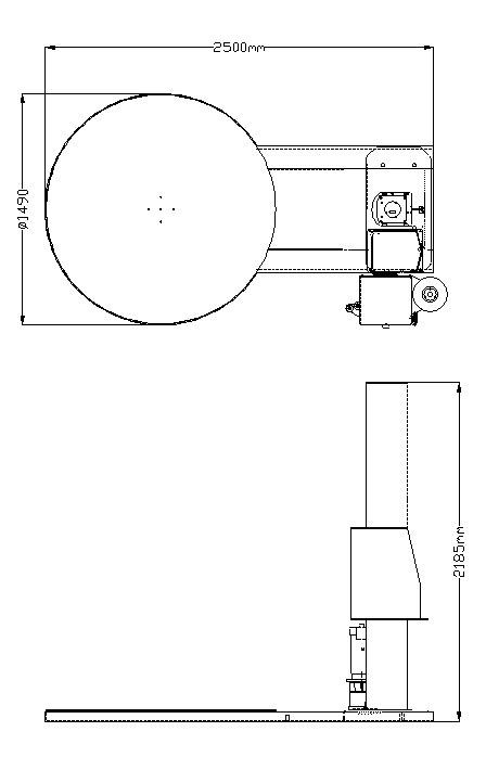 胶膜裹包机 Carton Sealer – 参数图