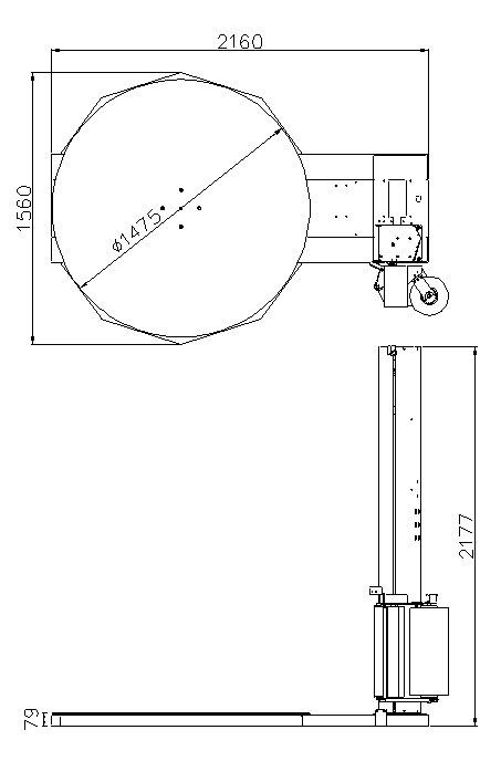 膠膜裹包機 Carton Sealer – 參數圖