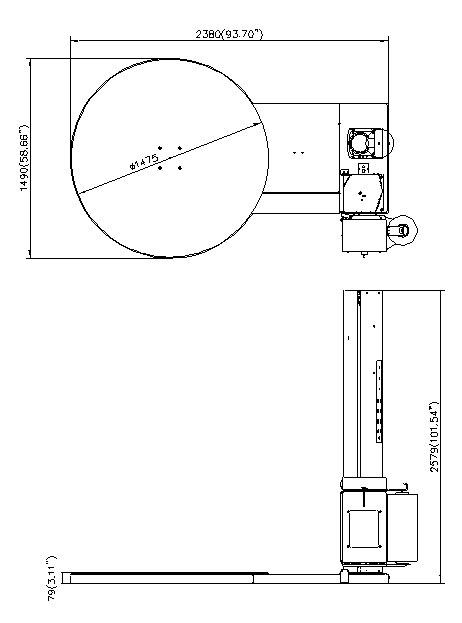 膠膜裹包機 Stretch Wrapper – 參數圖