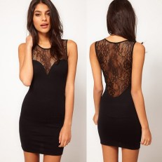 Backless-dress-perfect for nipple cover
